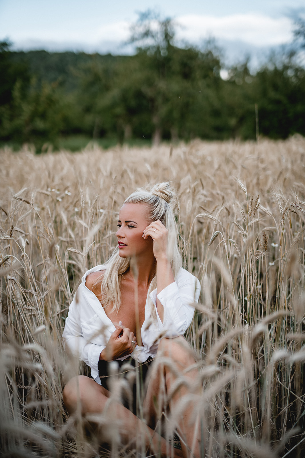 Model, Portrait, Shooting, Blond, Feld, Wald, Wiese, Portraitshooting, Modelshooting, Dj Almklausi, Maritta, Miss Stuttgart, Miss Baden-Württemberg, Misswahl, Maritta Krehl